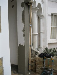 Bath Stone Columns During Rebuild