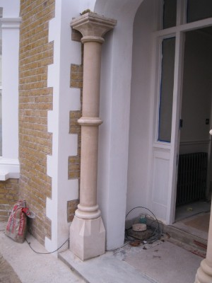 Bath Stone Columns After Rebuild