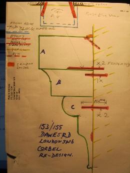 Corbel Bracket Repair Sketch