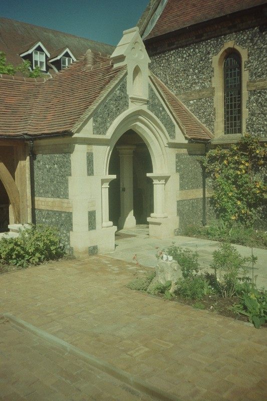 Porch and One Sided Cloister, Hertford RC Church