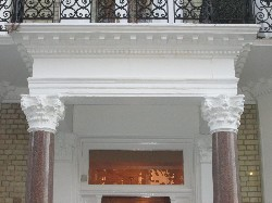 Limestone Portico After Repairs
