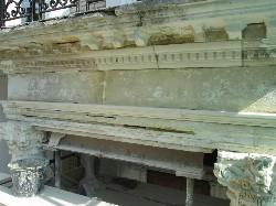 Limestone Portico During Repairs
