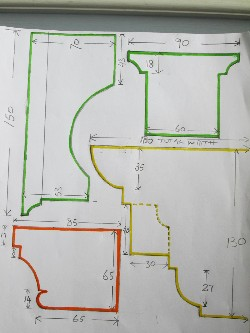 Limestone Portico Repairs Sketch