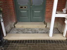 Portland Steps With Retained Tiled Landing After Rebuild