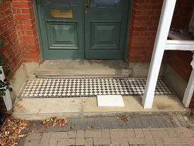 Portland Steps With Retained Tiled Landing Before Rebuild