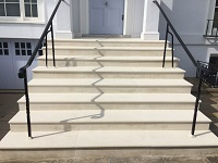 Portland Stone Solid Block Steps After Rebuild