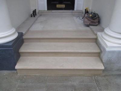 Portland Stone Steps Rebuild