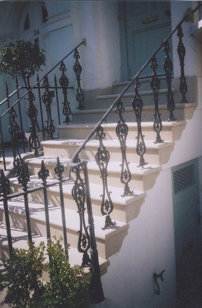Formal Front Steps of Terraced House