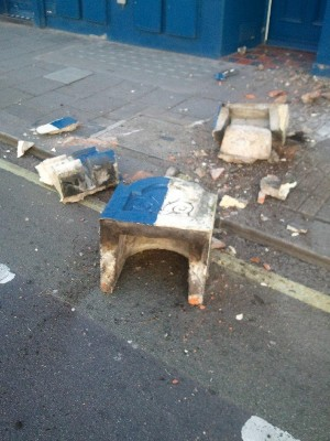 Smashed Corbel on the Street