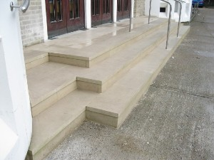 Portland Stone Steps and Limestone Platform, St Scholastica's RC Church