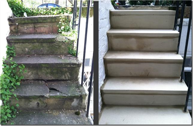 Yorkstone Steps Before and After Restoration - Photo 1