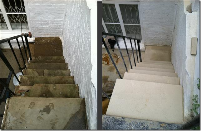 Yorkstone Steps Before and After Restoration - Photo 2