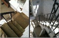 Yorkstone Steps Before and After Restoration - Photo 3