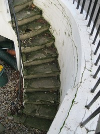 York Stone Stair Before Rebuild