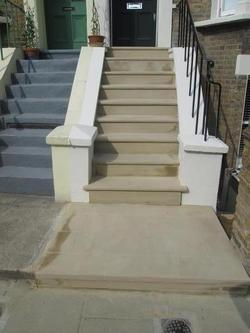 Terraced House Front Steps Rebuild