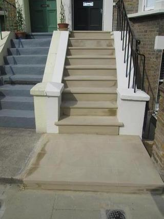 Terraced House Front Steps After Rebuild