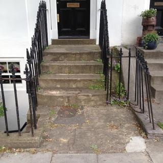 Unusual York Stone Steps Before Rebuild
