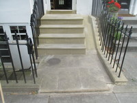 Unusual York Stone Steps One Year After Rebuild