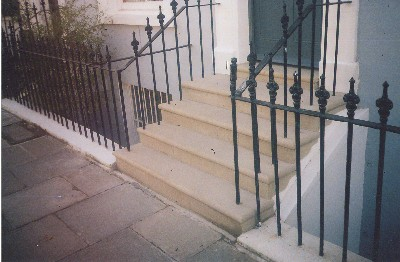 Yorkstone Steps, Solid Stone with Waterproof Membrane